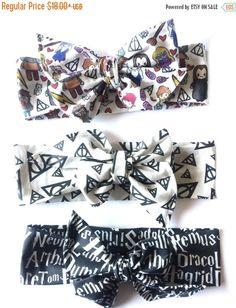 Harry Potter bundle harry potter baby baby bow by Mimiandruby