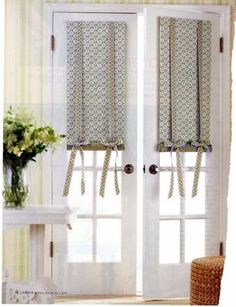 Great Fabulous Window Treatments For French Doors