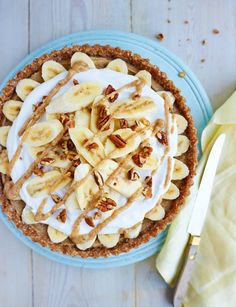 Raw vegan banoffee pie recipe - vegans have the last laugh with this decadent banoffee pudding with fluffy coconut cream and raw caramel.