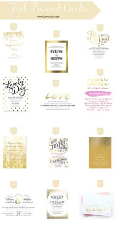 Classy Splash  Signature Foil Wedding Invitations In White Or