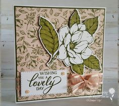 One of my most favourite suites in the 2019-2020 Stampin' Up! catalogue is the Magnolia Lane suite. It's very easy to create beautiful projects with this suite of products.