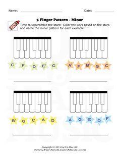 Music-Worksheets-5-Finger-Pattern-Minor-005 | 5 Finger Pattern ...
