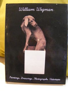William Wegman Vintage 1990 Book for  Dog Lovers signed by VinBits