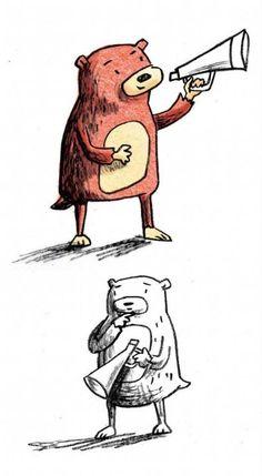 Megaphone Bear by Lisa Berkshire
