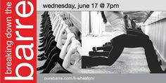 Don't forget about Pure Barre's FREE class tonight, Breaking Down the Barre, at 7pm with Gabrielle! #KentsDeals