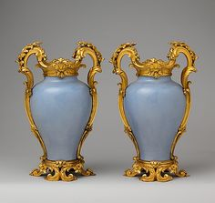 Pair of vases, ca. 1750. Chinese with French mounts. The Metropolitan Museum of Art, New York. Gift of Mr. and Mrs. Charles Wrightsman, 1977 (1977.102.1, .2)