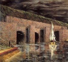 Floodgate Near Petershorn by Franz Radziwill