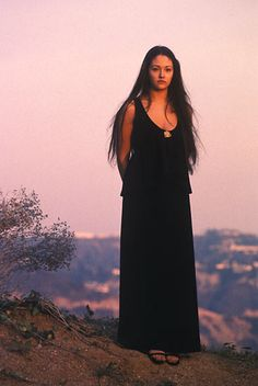 Olivia Hussey maxi-dress