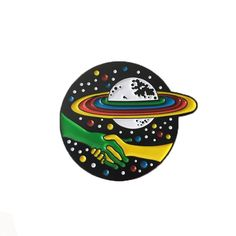 """1.25"""" quality enamel pin. Comes individually packaged with deluxe clasp. Designed by Kim Michey."""