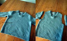 Wool sweater bag cut sleeves