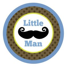 Little Man & Mustache Edible Cake Topper