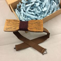 """Excited to share the latest addition to my #etsy shop: Wooden Bow Tie """"Straight"""" shape"""