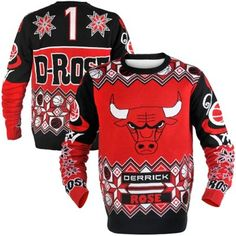 Derrick Rose Chicago Bulls Ugly Sweater 561894351a8