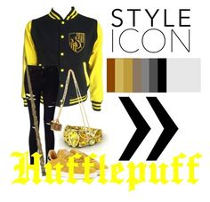 """""""Hufflepuff Outfit"""" by slytherinqueenn on Polyvore featuring Miss Selfridge and adidas Originals"""