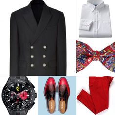 Menswear Red and Black Paisley