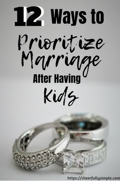 12 Ways to Prioritize Marriage After Kids - Cheerfully Simple Happy Marriage Tips, First Year Of Marriage, Healthy Marriage, Marriage Goals, Strong Marriage, Good Marriage, Marriage Relationship, Marriage Advice, Healthy Relationships