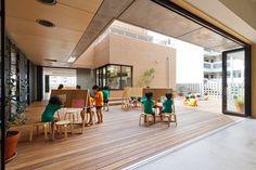 Hanazono Kindergarten in Japan designed by Youji No Shiro   many outdoor terraces for indoor-outdoor activity