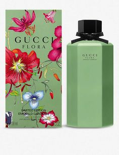 GUCCI The Alchemist's Garden Moonlight Serenade scented water Flora Gucci, Gucci Floral, Gucci Pattern, Flora Pattern, Perfume Display, Birthday Background, Beautiful Perfume, Beauty Packaging, Bottle Painting