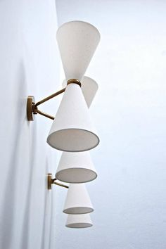 French Double Cone Sconces