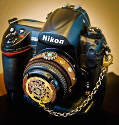 #steampunk:  #CameraPunk camera accessory lineup. Curated by your friends at  https://createamixer.com/ #CameraAccessories #DigitalCameras
