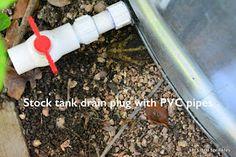 PVC Drain for Stock Tank Pool
