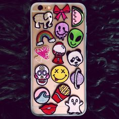 Customize your cell phone case with the original peel and stick fabric patches from Hipstapatch. Choose one or many of these real life emojis to make your cell phone case stand out in the crowd.