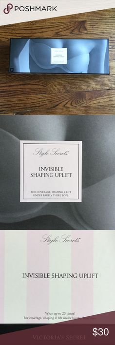 Victoria's Secret invisible uplift adhesive bra New in box. No damages or issues. Size B cup, but will easily fit a small C cup or larger A cup. Perfect for sheer tops or dresses. Coverage without visibility and worries of exposure. Victoria's Secret Intimates & Sleepwear Bras