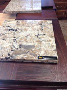 Cambria Bradshaw quartz countertop for kitchen...love this stuff & low maintence compared to granite!!! Outdoor Kitchen Countertops, Laminate Countertops, Marble Countertops, Kitchen Backsplash, Granite, Kitchen Counters, Kitchen Island, Kitchen And Bath, New Kitchen