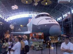 Space Shuttle Enterprise, National Air and Space Museum Annex, summer 2011.