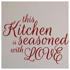 SweetumsWallDecals This Kitchen is Seasoned with Love Wall Decal Color: Cranberry