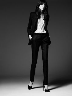 Yves Saint Laurent - Saint Laurent Permanent and Pre-Fall 2014 Campaign/In this picture:Grace Hartzel