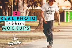 Real photo T-Shirt MOCKUP by The Makery on Creative Market