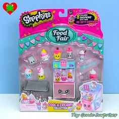 Besides the and there are various playsets that you can get, all with exclusive Shopkins you can only get in the playsets: EASY SQUEEZY FRUIT & VEG STAND (Season This. Shopkins Food Fair, Shopkins Game, Shopkins Season 2, Shopkins Playsets, Num Noms Toys, Shopkins And Shoppies, Toy Packaging, Monster High Dolls, Toys For Girls