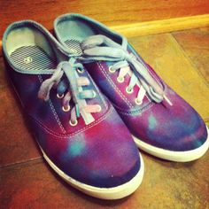 Tie dye shoes DIY craft