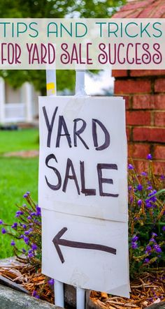 Tips and Tricks for Yard Sale Success