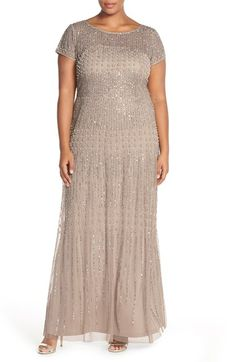 Adrianna Papell Beaded Gown (Plus Size) available at #Nordstrom