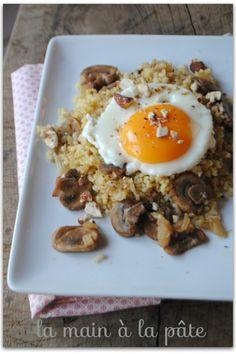 boulgour-aux-champignons-frais-et-oeufs-au-plat
