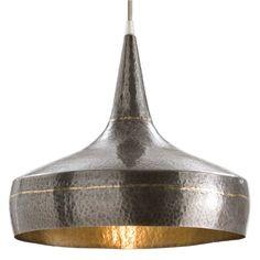 Arteriors Mason hammered iron pendant