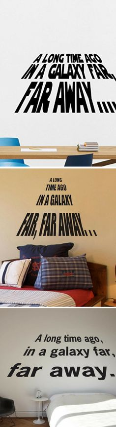 Star Wars Long Time Ago Wall Decals - Star Wars Decals #starwars #decor #decal #gift #home