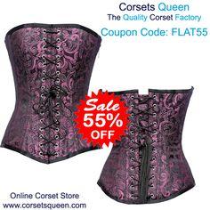 Pink Designer corset, oberbust corset dress, corset for plus size