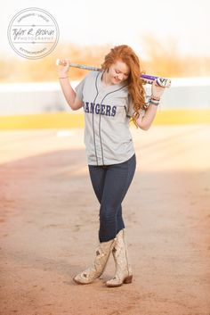 Madi Meyers - Senior Portraits - Lone Star High School - Girl Senior - Softball - Senior Pictures - Senior Softball - Redhead - Class of 2016 - #seniorpics - Ideas for Girls - Athlete Photos - #seniorportraits - Tyler R. Brown Photography