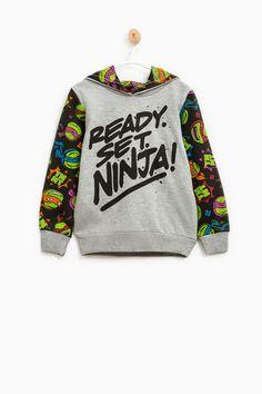 Teenage Mutant Ninja Turtle cotton hoodie, Grey, hi-res