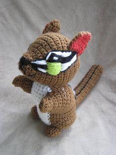 Crocheted Chipmunk PDF Pattern by ScareCrowOriginals on Etsy, $3.50