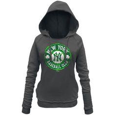 Women s New York Yankees 5th   Ocean by New Era Gray Brushed Fleece Hoodie 4151ae492