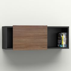 Nexera Next Wall Shelf with Sliding Door | AllModern