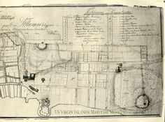 Here is a map of Charlotte Amalie, King's Distict. Among other things, it´s indicated the wells that were in the District. Note the small streams that were in some of the streets. The image is cleaned and restored by Peter Ravn. The map is drawn by Mr. Meley in 1807.
