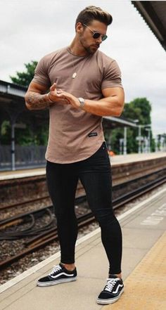 Skinny Jeans For Men Black Streetwear Hip Hop Stretch Jeans Hombre Sli mysho - Men Jeans - Ideas of Men Jeans Streetwear, Hip Hop, Look Man, Mens Clothing Styles, Clothing Ideas, Sneakers Fashion, Sexy Men, Casual Outfits, Casual Shirts
