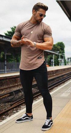 Skinny Jeans For Men Black Streetwear Hip Hop Stretch Jeans Hombre Sli mysho - Men Jeans - Ideas of Men Jeans Streetwear, Look Man, Mode Masculine, Mens Clothing Styles, Clothing Ideas, Mens Fashion, Fashion Trends, Fashion Guide, Men Fashion Casual