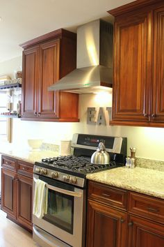I like the color of the cabinets and the counter tops ...