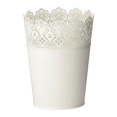 SKURAR plant pot from IKEA. £4.99. Outside diameter: 20 cm, Max. diameter flowerpot: 17 cm, Height: 25 cm, Inside diameter: 19 cm